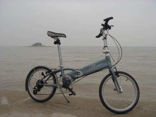 Bike by seaside