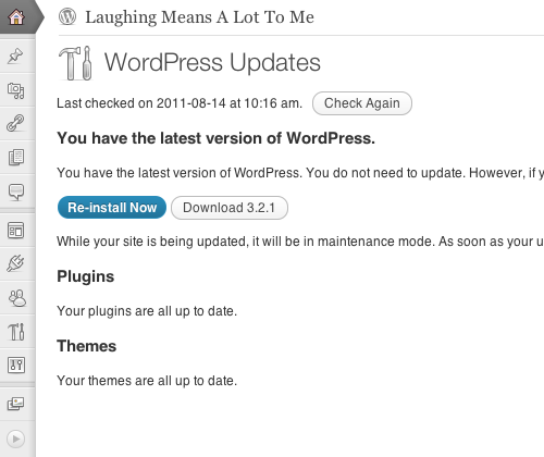 WordPress Update Check