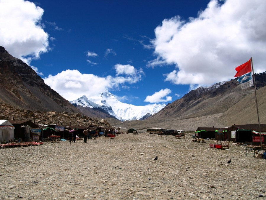 Camps At The Base Camp Of The Everest