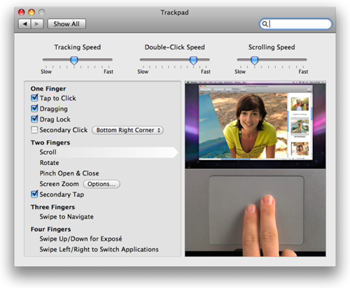 TouchPad Setting In New MacBook